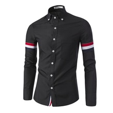 2016 New Brand Solid Color Chemise Homme Men Shirt Camisas font b Hombre b font Casual