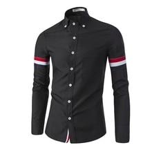 2016 Nueva Marca de Color Sólido Hombres Camisa Camisas Hombre camisa Chemise Homme Camisa Masculina Informal de Manga Larga Camisas Slim Fit