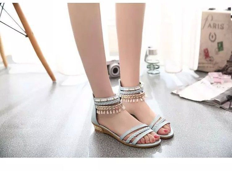 women sandals 2016 fashion Bohemia gladiator sandals women beading sandalias mujer wedges shoes for women 2016 new spring DT141 (3)