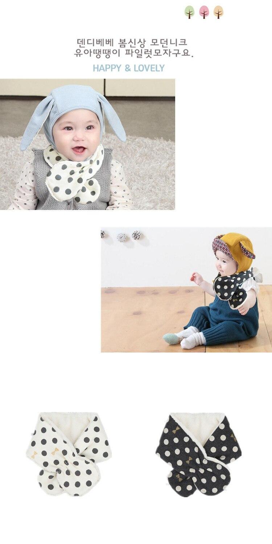 Emon children's winter baby bibs Warm Scarf Kid Heart Shape Pattern Baby boys girls Scarf Neck With Velvet Thickening muffle (3)