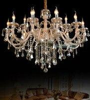 Чешские хрустальные chandeleir скидка светодиодные лампы 18 огни оптом по низкой цене люстры стильный хрустальный подсвечник
