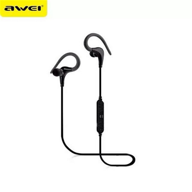 100% Awei A890BL Bluetooth 4.0 Earphone Sports Wireless Headphones Bluetooth Headset Handsfree Voice Control Headphone with Mic bq 618 wireless bluetooth v4 1 edr headset support handsfree earphone with intelligent voice navigation for cellphones tablet