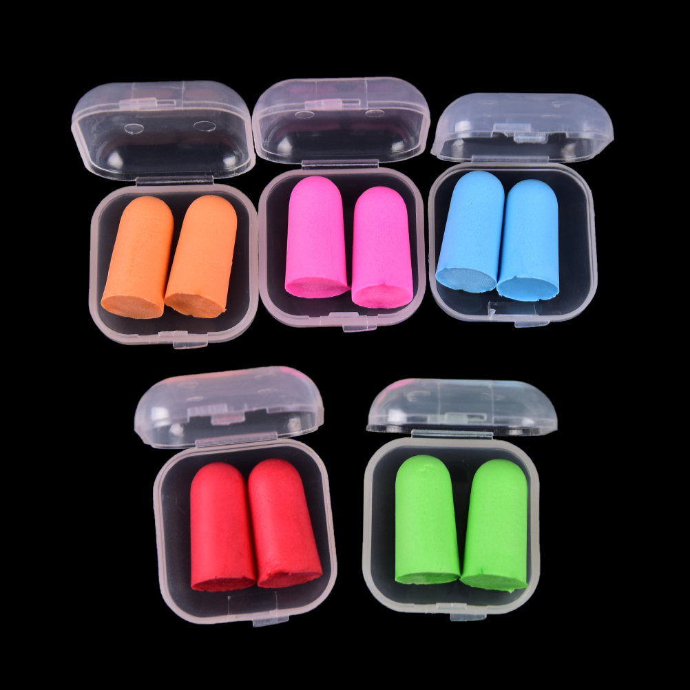 1Pair Colorful Earplugs Sleeping Plugs For Travel 2PCS Anti-noise Soft Ear Plugs Sound Insulation Ear Protection Noise Reduction