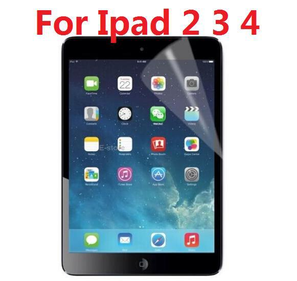 High Clear Full Body Front Screen Protector For Ipad 2 3 4 + Retail Package