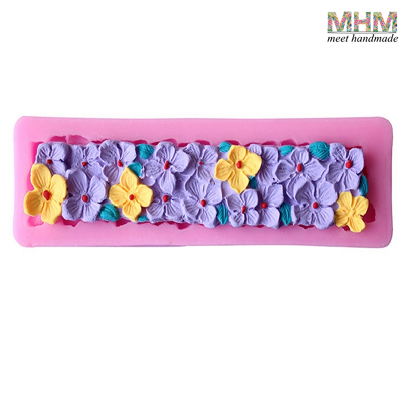 Flower Shaped Rose Flower Silicone Chocolate Mold Decorating Tools Silicon Soap Making Molds Cake Mould Valentine's Day Gifts