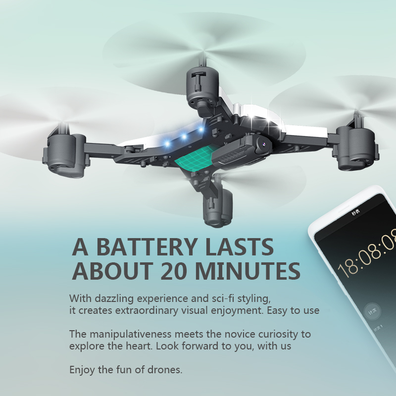 XKY K601S Upgraded Big Battery RC Foldable Selfi Drone Quadcopter Helicopter VS xs809hw 1