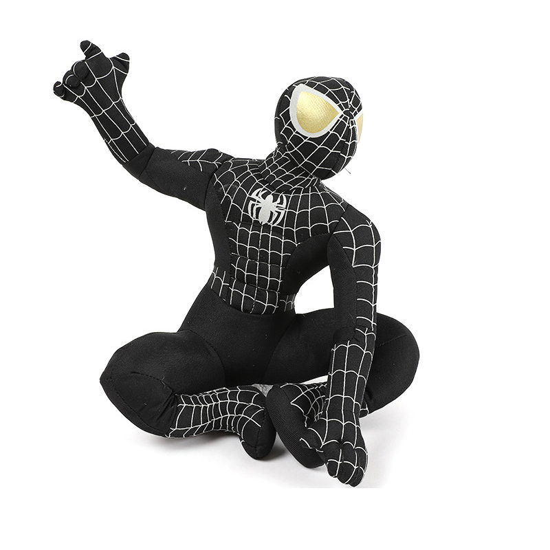 Black Spiderman Plush Toy 35cm The Avengers Super Hero Spider-man Plush Doll Soft Stuffed Toys For Children Kids Christmas Gifts