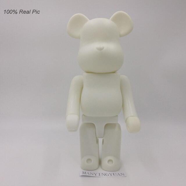 f5103261 400% bearbrick bear@brick DIY Paint PVC Action Figure White Color With Opp  Bag