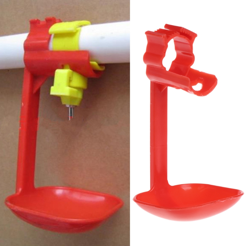 Poultry Chicken Duck Birds Hanging Drinking Nipple Water Drinker Feeder With Cup in Feeding Watering Supplies from Home Garden