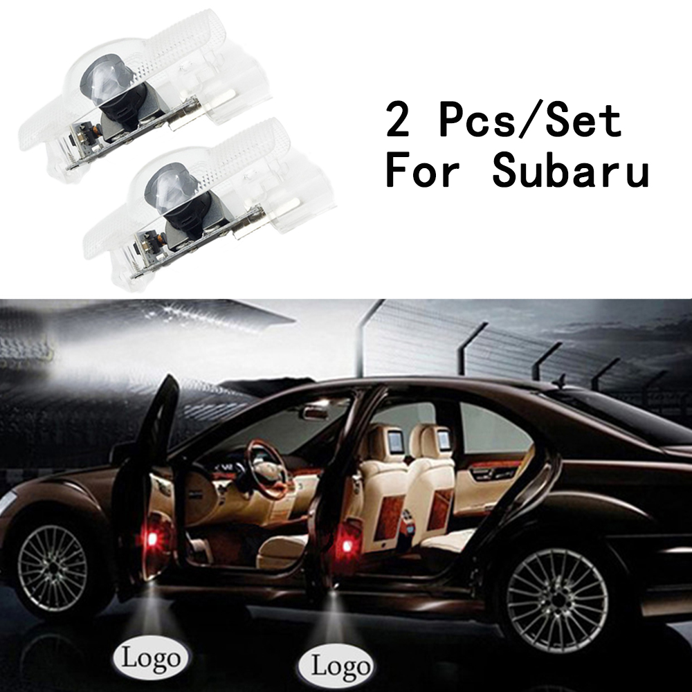 Ghost Shadow Projetor With Logo Only For SUBARU/BRZ 2Pcs/Set 12V Step Door Courtesy Laser Lens Include LED Courtesy