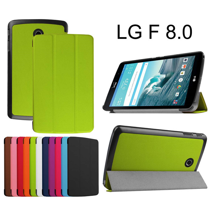 Magnet Ultra thin Stand Leather case cover For LG GPad G Pad F 8.0 V495 V496 Tablet cover case + screen protectors+stylus