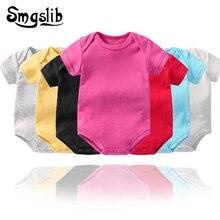 Летняя одежда для малышей; Детский комбинезон с короткими рукавами; комбинезон для новорожденных мальчиков и девочек; трикотажная одежда; Детский костюм; Комбинезоны для младенцев; Детский комбинезон