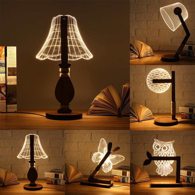 WoodenTable Lamp