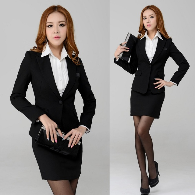 7c683f9e1 New 2015 Spring Formal Business Professional Work Clothes for Women Work  Wear Set Skirt and Blazer Female Office Uniform Style