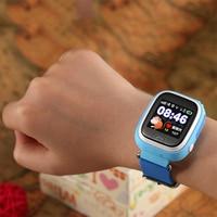 LEMFO Q90 Akıllı İzle Çocuklar SOS Alarm Saati GPS WIFI Bluetooth anti-kayıp SIM Kart Için çocuk Akıllı saatler Telefon Hediye