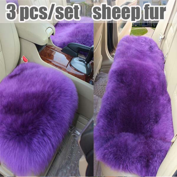 2016 auto supply winter real wool car seat cover cushion no back  car seat cushion 3 seats covers for