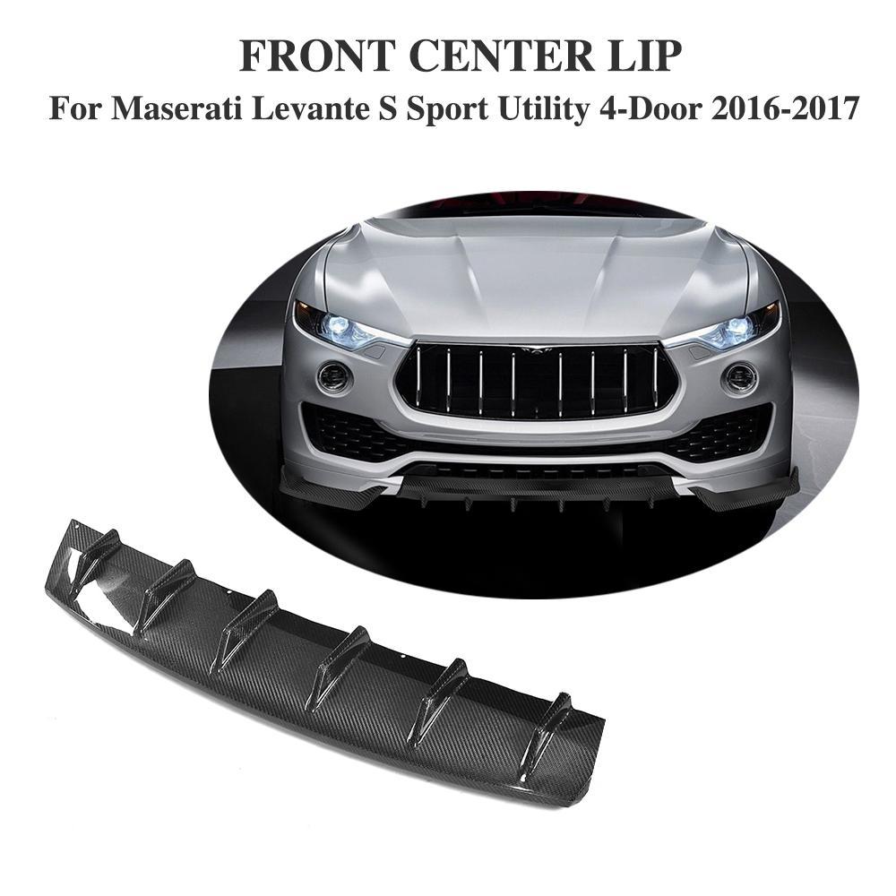 Углеродного волокна и FRP гоночный автомобиль бампер передний lip для Maserati LEVANTE 4 двери 2016 2017