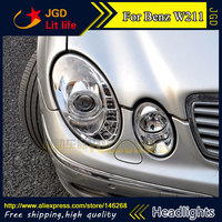 Free Shipping Car Styling LED HID Rio LED Headlights Head Lamp Case For Benz W211 E240