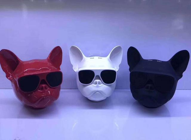 10PCS Wireless Bluetooth Speaker Bulldog Speaker Subwoofer Deep Bass Portable Speakers Loudspeaker Handsfree TF Touch Control 3