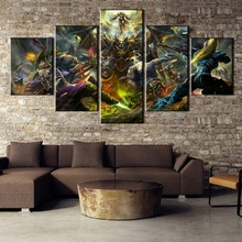 HD Printed 5 Pieces Heroes of The Storm Painting Canvas Wall Art Picture Home Decoration Living Room