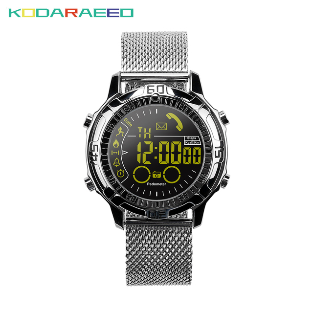 US $19 73 28% OFF|EX28A Smart watch Bluetooth Smartwatch Waterproof Outdoor  Sports Heart Rate Step Counting Burn Calories for Android IOS Phone-in