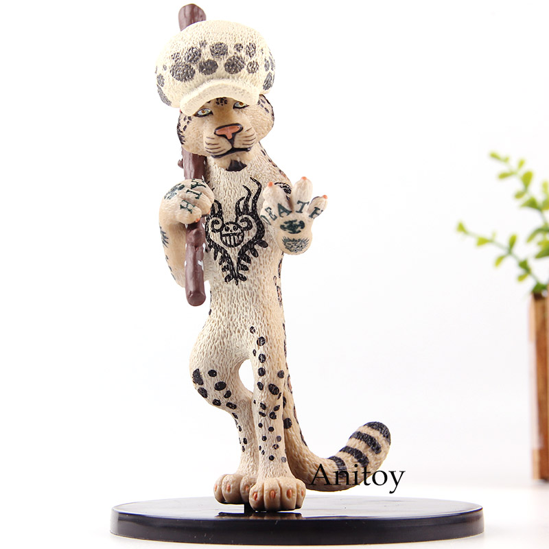 Action Figure One Piece Animal Series Trafalgar Law as Leopard PVC Collection Model Cute Toys цена
