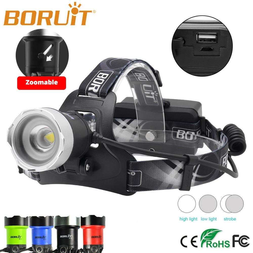 BoruIt 3000LM XML L2 LED Headlight Zoomable White light Head Lamp Torch AA New