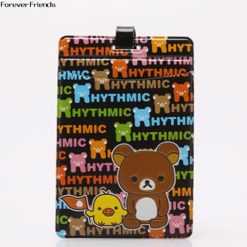 ForeverFriends Easily bear cartoon cute luggage tag Bus card set,Bag Parts & Accessories for Travel садово парковый светильник sirius 4690389017407 elektrostandard 1183814