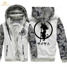 Dragon Ball Z Goku Winter Warm Jackets Fleece Thick Sweatshirts