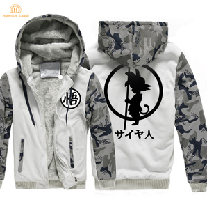 Image 3 - Japan Anime DRAGON BALL Z  Hoodies Men 2019 Winter Warm Jackets Fleece High Quality Thick Sweatshirts Plus Size Mens Coat