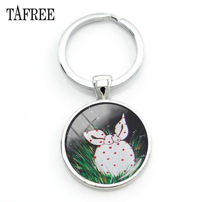Tafree ouriço na névoa chaveiros quente moda graciosa metal pingentes chaveiro de vidro cabochão cúpula jóias presente hf17