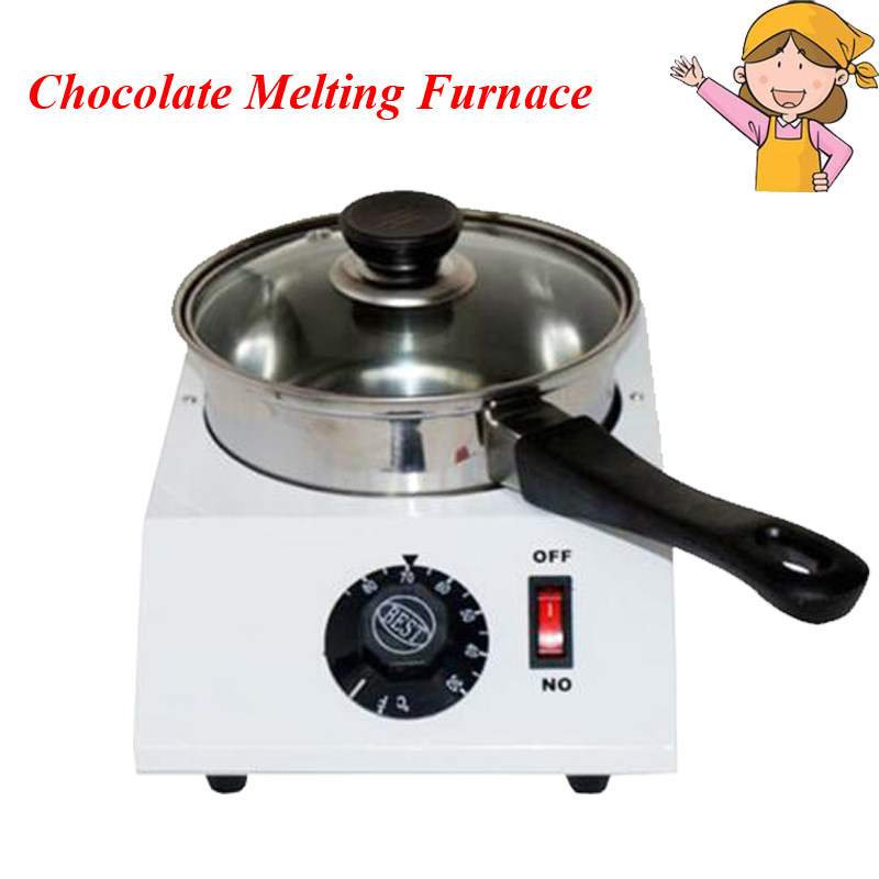1pc Electric Single Cylinder Chocolate Melting Furnace Chocolate Melting Stove Machine D20049 single cylinder commercial chocolate melting machine fy qk 620 stainless steel chocolate melting pot 220v 1pc