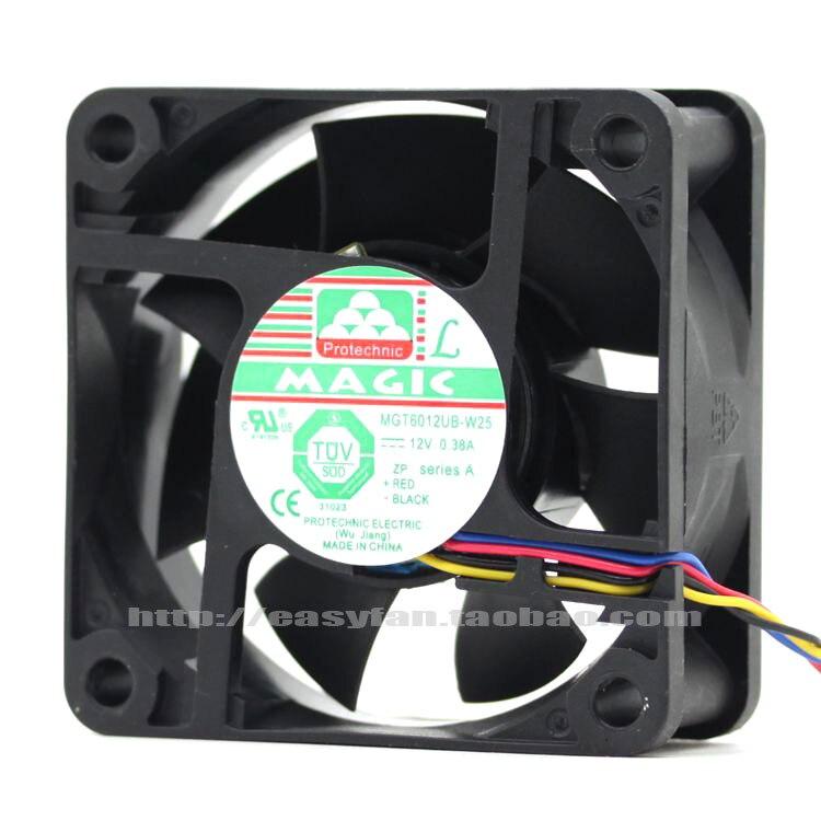 Новый для Magic Protechnic MGT6012UB-W25 6025 12 В 0.38A 6 см 4PIN Вентилятор охлаждения