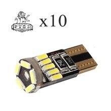 2Pcs Car-Styling T10 LED 12V 4W W5W 194 15MSD 4014 Car Clearance Light Neutral White 240lm (12V / 2PCS)