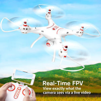 Syma X8SW WIFI FPV Drone Helicopter 2.4G 4CH 6 Axis RC Quadcopter 720P Camera Altitude Hold RTF Remote Control Helicopter Toy