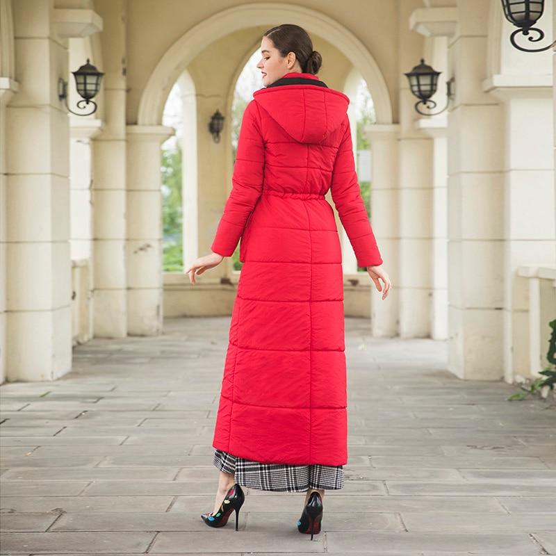Veste Sustans La Dz2012 Plus Cap Parka Fourrure Long X Réglable Rouge Manteau Chaud Femmes D'hiver Taille Outwear 2018 YOwFAq8Un