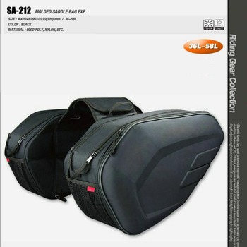 2018 New Universal fit Motorcycle komine SA212 Bags Luggage Saddle Bags with Rain Cover 36-58L X кофры komine
