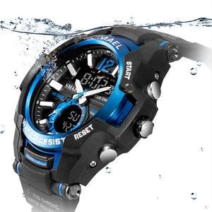 Image 3 - Men Watches SMAEL Sport Watch Waterproof 50M Wristwatch Relogio Masculino Militar 1805 Mens Clock Digital Military Army Watch