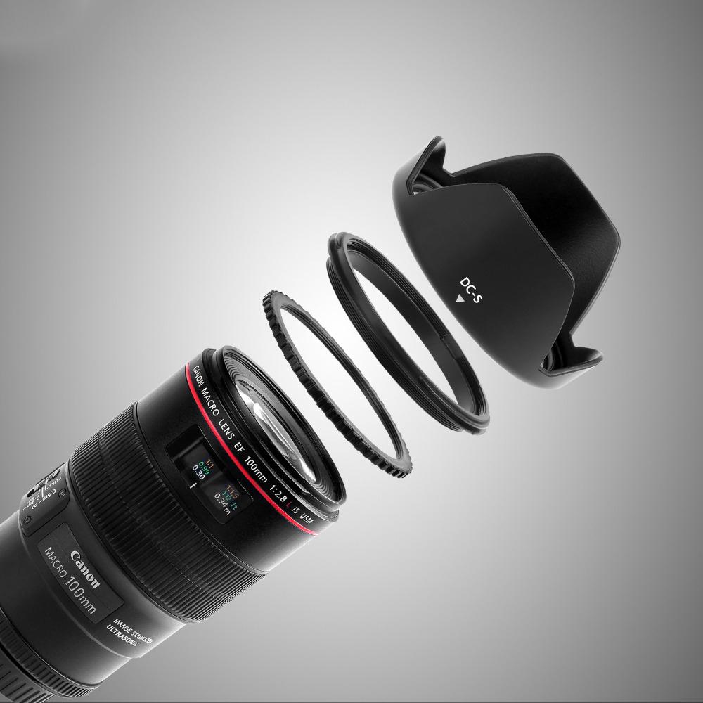 capsaver 55mm Lens Hood Screw Mount Flower Petal Tulip Lens Hood for Canon Nikon Sony Camera Accessories Lens Protect 4