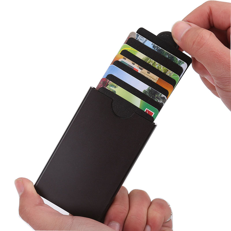 Wholesale New Business Card Case Aluminum Holder Metal Box Cover Credit Men Wallet
