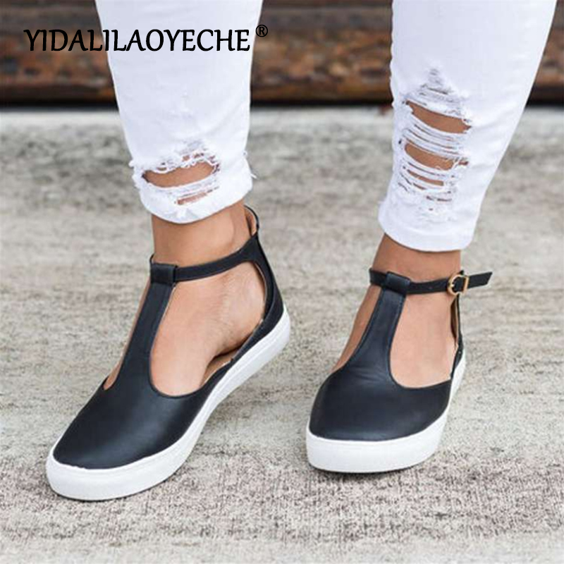 YIDALILAOYECHE 2019 Fashion Summer Women Sandals Front & Rear Strap Buckle Strap Platform Shoes Alpargatas De Zapatos Mujer 2019(China)