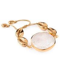 Boho pulseira feminina натуральный большой Пука раковина Каури браслет браслеты для женщин Подарочная бижутерия ювелирные изделия богемные браслеты