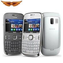 ASHA 302 оригинальная разблокированная Nokia Asha 302 3g сеть GSM wifi Bluetooth JAVA 3.15MP камера Восстановленный мобильный телефон