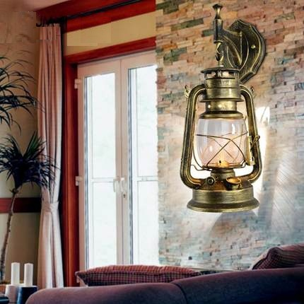 Loft Style Iron Kerosene Wall Sconces Industrial Lamp Vintage Wall Light Fixtures Antique Indoor Lighting Lampara Pared loft style iron edison wall sconce industrial lamp wheels vintage wall light fixtures antique indoor lighting lampara pared