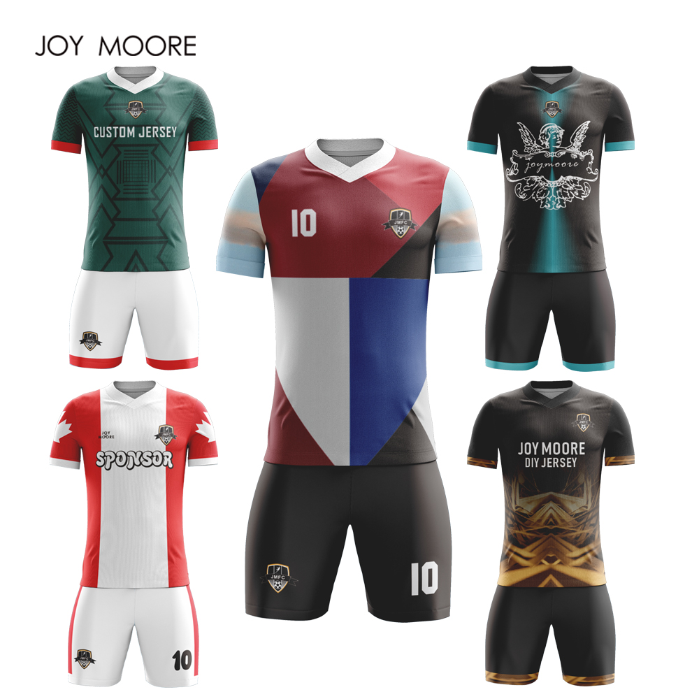 b302e2dc1 professional design Sportswear Adult Football Set Custom Soccer Jerseys red  and white color -in Soccer Sets from Sports   Entertainment on  Aliexpress.com ...