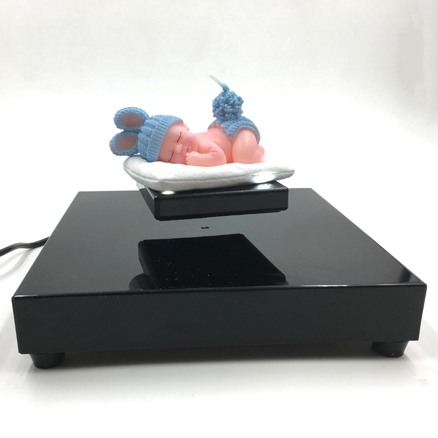 Nouveauté Magnétique Lévitation Présentoir Bijoux Montre Flottant Rotation vitrine pour 200g objet Promotion affichage