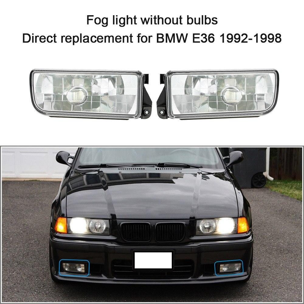 Voiture-Devant Brouillard Lumière pour BMW E36 1992-1998 H1 Base sans Ampoules De Voiture-détecteur Phares lentille Lampe Feux de jour