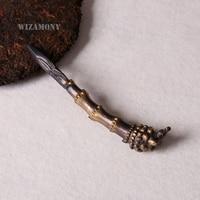 WIZAMONY Zhejiang Longquan Handmade Puer Tea knife set tools needle cone puerh tea cake puer knife Wholesale