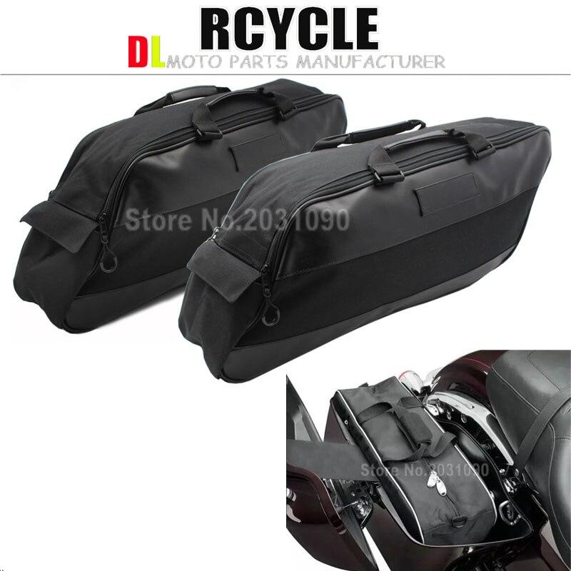 Black Saddlebags Liners Saddle Bag For Harley Road King Street Glide Ultra Electra Glide 1994 2013