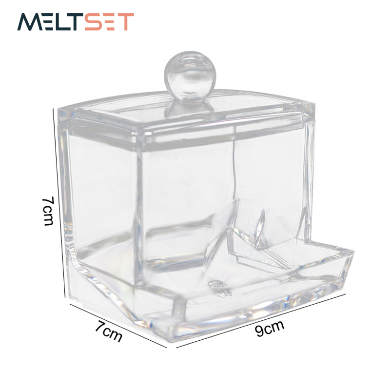 Aliexpress.com : Buy Acrylic Cotton Swab Organizer Storage Box Q Tip Storage  Holder Container Clear Makeup Cosmetic Swab Box Home Organizer Case From ...